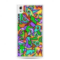Huawei P7 etui kolorowa abstrakcja