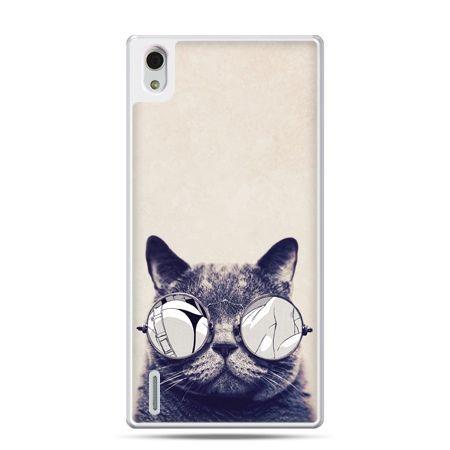 Huawei P7 etui kot w okularach