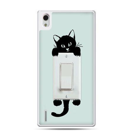 Huawei P7 etui włącznik kotek