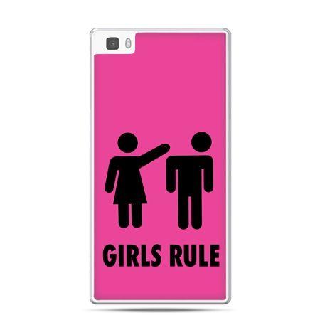 Huawei P8 etui różowe Girls Rule