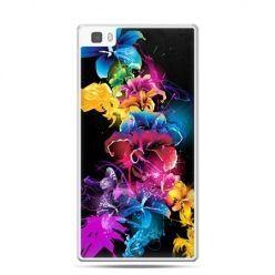 Huawei P8 etui kolorowe kwiaty
