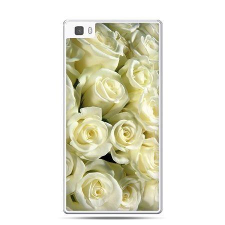 Huawei P8 etui białe róże