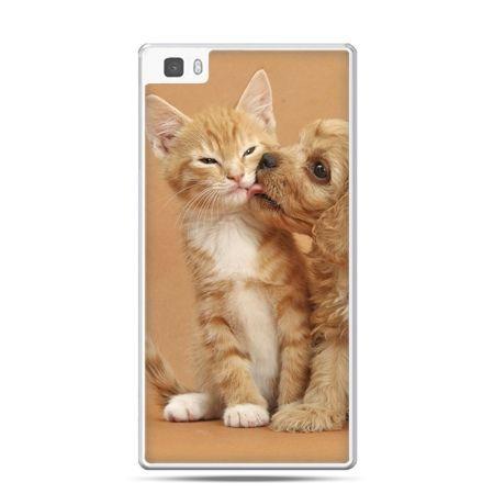 Huawei P8 etui jak pies i kot