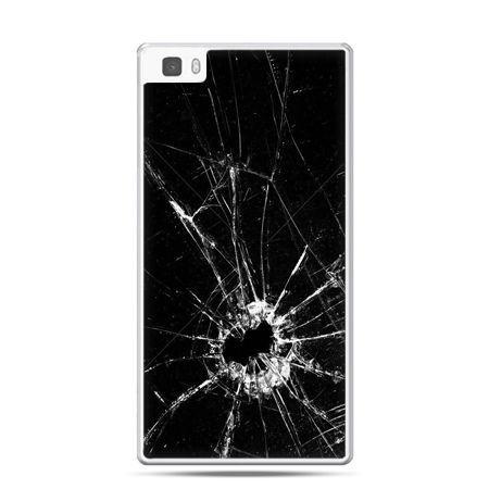 Huawei P8 etui rozbita szyba