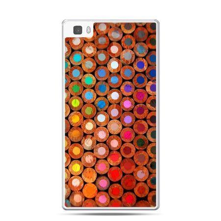 Huawei P8 etui kolorowe kredki