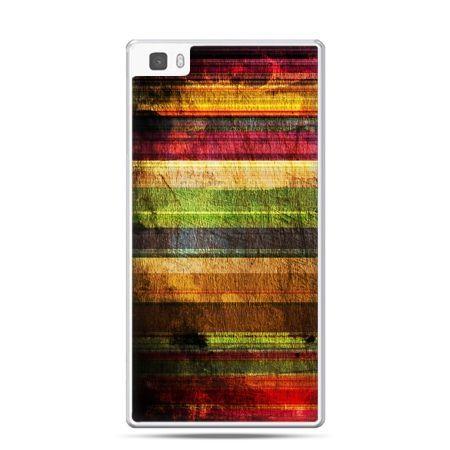Huawei P8 etui kolorowe deski