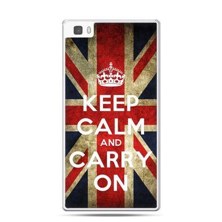 Huawei P8 etui Keep calm and carry on