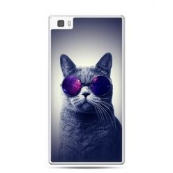 Huawei P8 etui kot hipster w okularach