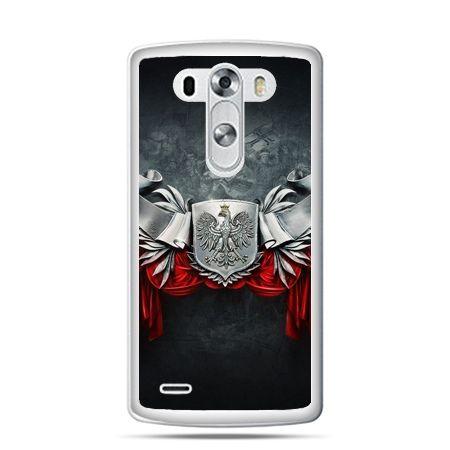 Etui na telefon LG G4 patriotyczne - stalowe godło