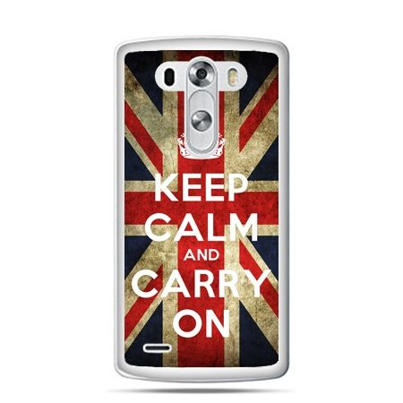 LG G4 etui Keep calm and carry on