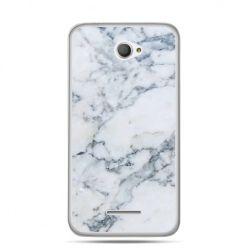 Xperia E4 etui biały marmur