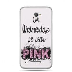 Xperia E4 etui z napisem pink