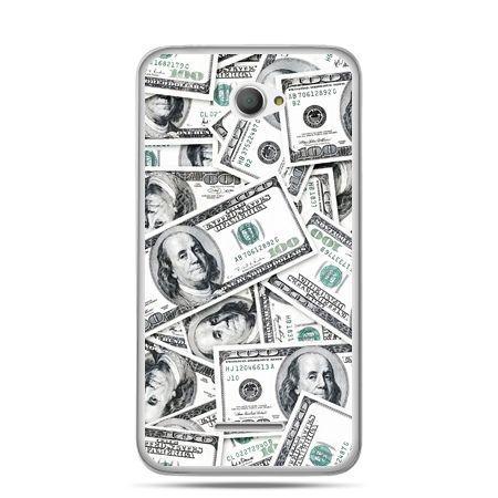 Xperia E4 etui dolary banknoty