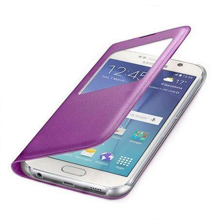 Galaxy Core Prime etui Flip S View z klapką różowe.