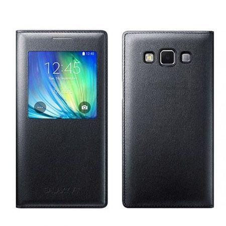 Galaxy A7 Flip S View z klapką czarne.