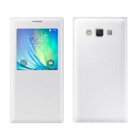 Galaxy A7 Flip S View z klapką białe.