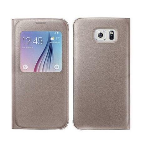 Galaxy S6 Edge Flip S View z klapką złote.