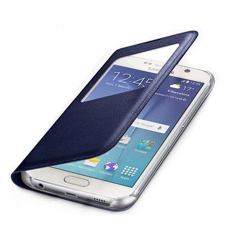 Galaxy S6 Edge Flip S View z klapką granatowe.