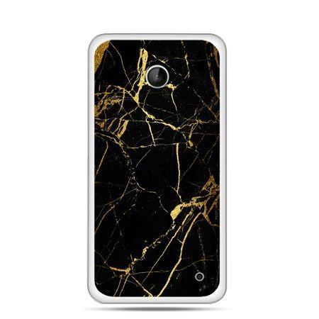 Nokia Lumia 630 etui złoty marmur
