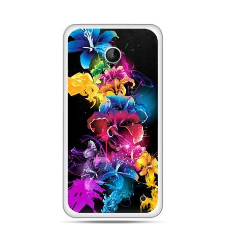Nokia Lumia 630 etui kolorowe kwiaty