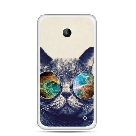 Nokia Lumia 630 etui kot w tęczowych okularach