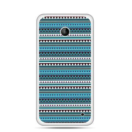 Nokia Lumia 630 etui niebieski wzorek poziomy