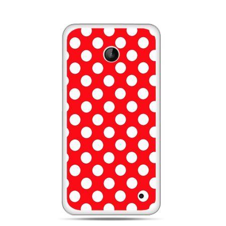 Nokia Lumia 630 etui czerwona polka dot