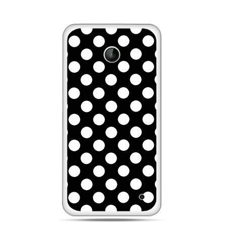 Nokia Lumia 630 etui Polka dot czarna