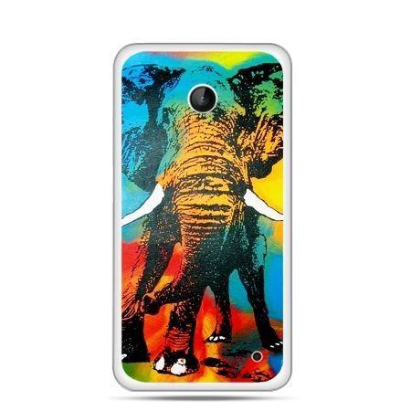 Nokia Lumia 630 etui kolorowy słoń