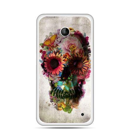 Nokia Lumia 630 etui czaszka z kwiatami