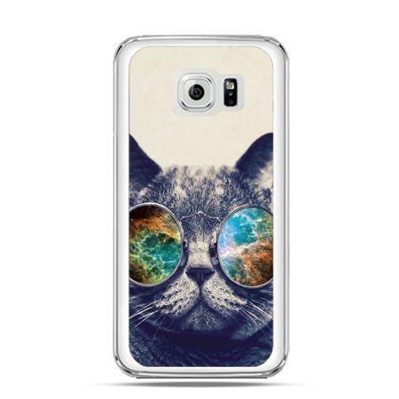 Etui na Galaxy S6 Kot w tęczowych okularach