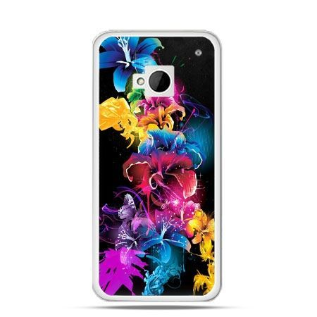 Etui na HTC One M7 Kolorowe kwiaty