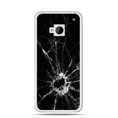 Etui na HTC One M7 Rozbita szyba