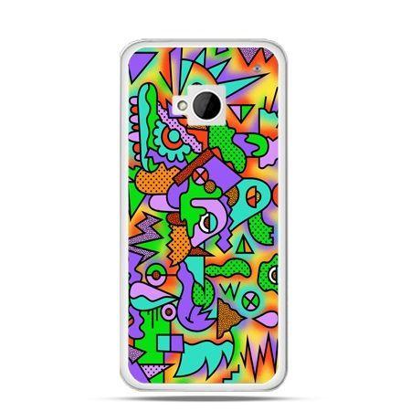 Etui na HTC One M7 Kolorowa abstrakcja