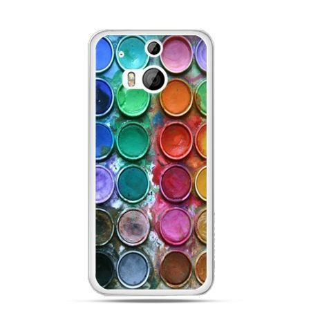 Etui na HTC One M8 Kolorowe farbki