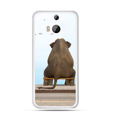 Etui na HTC One M8 Zamyślony słoń