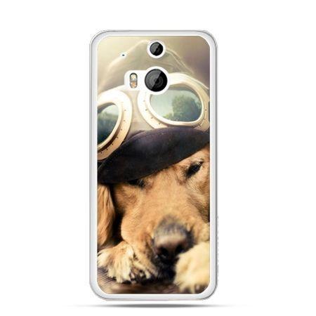 Etui na HTC One M8 Pies w okularach