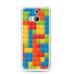 Etui na HTC One M8 kolorowe klocki