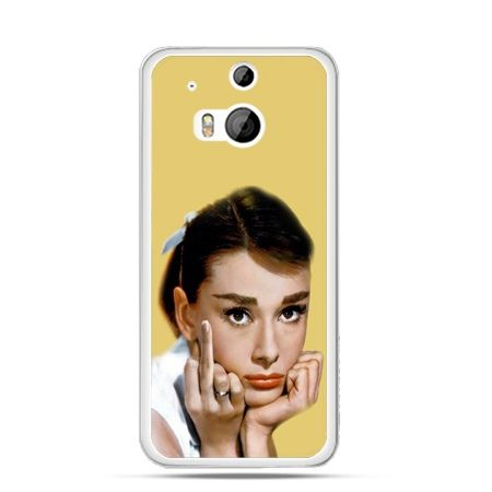 Etui na HTC One M8 Audrey Hepburn Fuck You