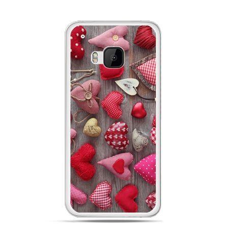 Etui na HTC One M9 Pluszowe serduszka