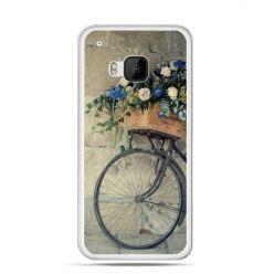 Etui na HTC One M9 Rower z kwiatami