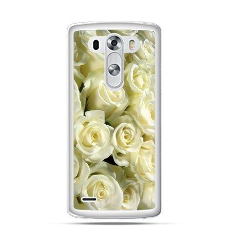 Etui na LG G3 Białe róże