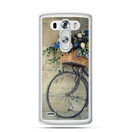 Etui na LG G3 Rower z kwiatami