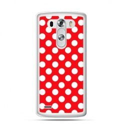 Etui na LG G3 Czerwona polka dot