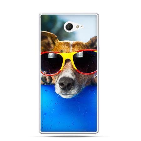 Sony Xperia M2 etui pies w okularach
