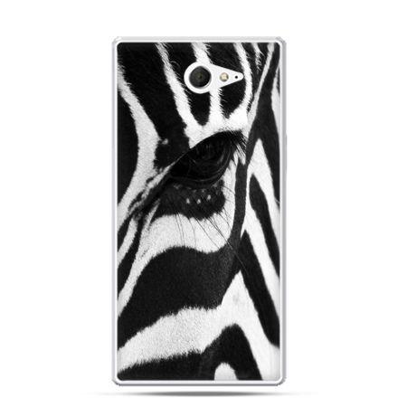 Sony Xperia M2 etui zebra
