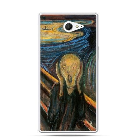 Sony Xperia M2 etui obraz Krzyk, Munk
