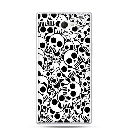 Sony Xperia M2 etui czaszki