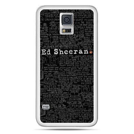 Galaxy S5 Neo etui ED Sheeran czarne poziome
