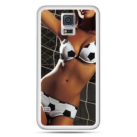 Galaxy S5 Neo etui kobieta w bikini football